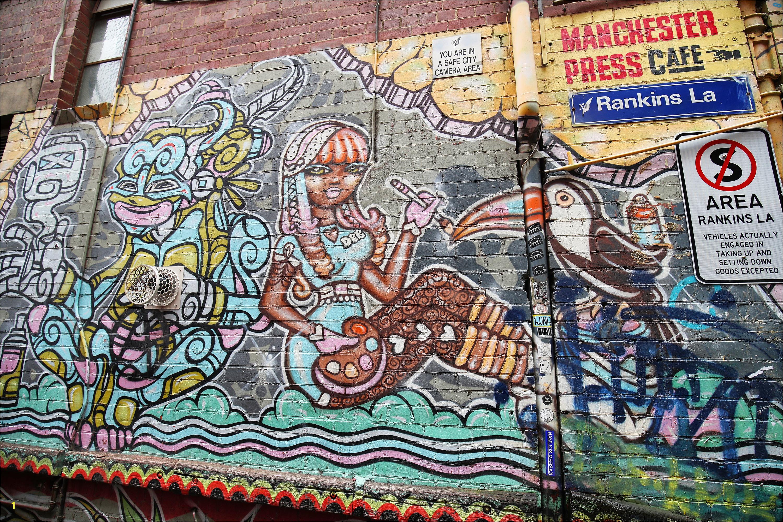 Rankins Lane Melbourne Street Art 2017 credit Graham Denholm