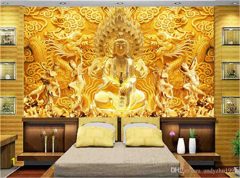 3D Wallpaper Custom 3d Wall Murals Wallpaper Mural Golden Goddess Mercy Chinese Relief 3d Living Room Wall Decor y Wallpaper y Wallpapers