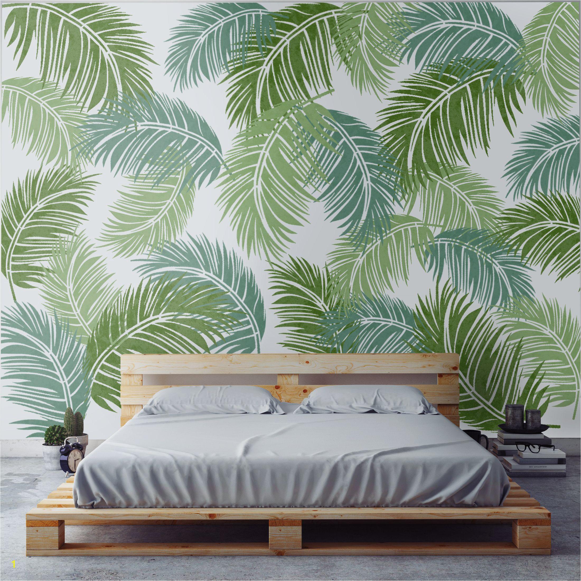 Tropical Palm Stencil Stencil Painting Leaf Stencil Stencil Diy Stencils Plant Wall