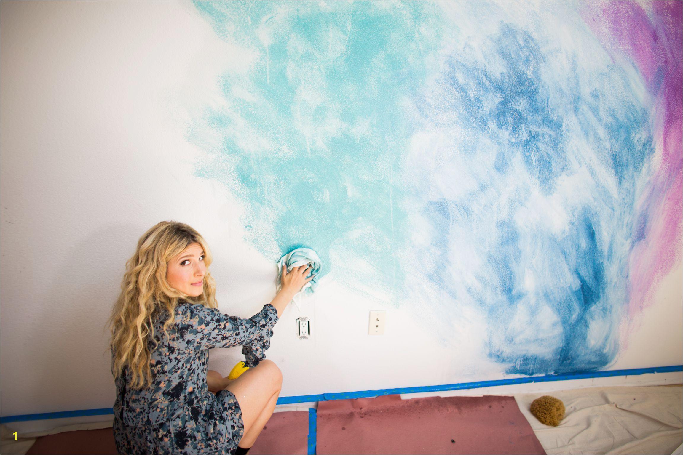 MrKate DIY WaterColorMural 5 of 18 Painted Wall Murals Wall Murals Bedroom Nursery Wall