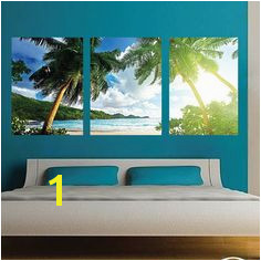 Palm Tree Wall Mural Decal Palm Tree Wall Art Decals Beach Wall Mural Tropical Beach Scene Wall Mural Decal Beach Mural c64