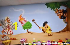 Bible Story Church Murals Hand Painted for Children s Walls