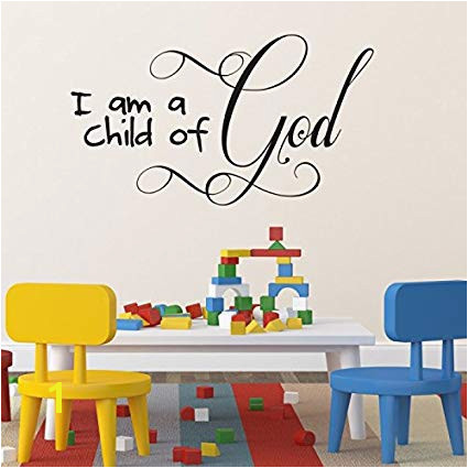 Amazon Children S Room Christian Wall Art Wall Sticker I Am A Child God Home & Kitchen