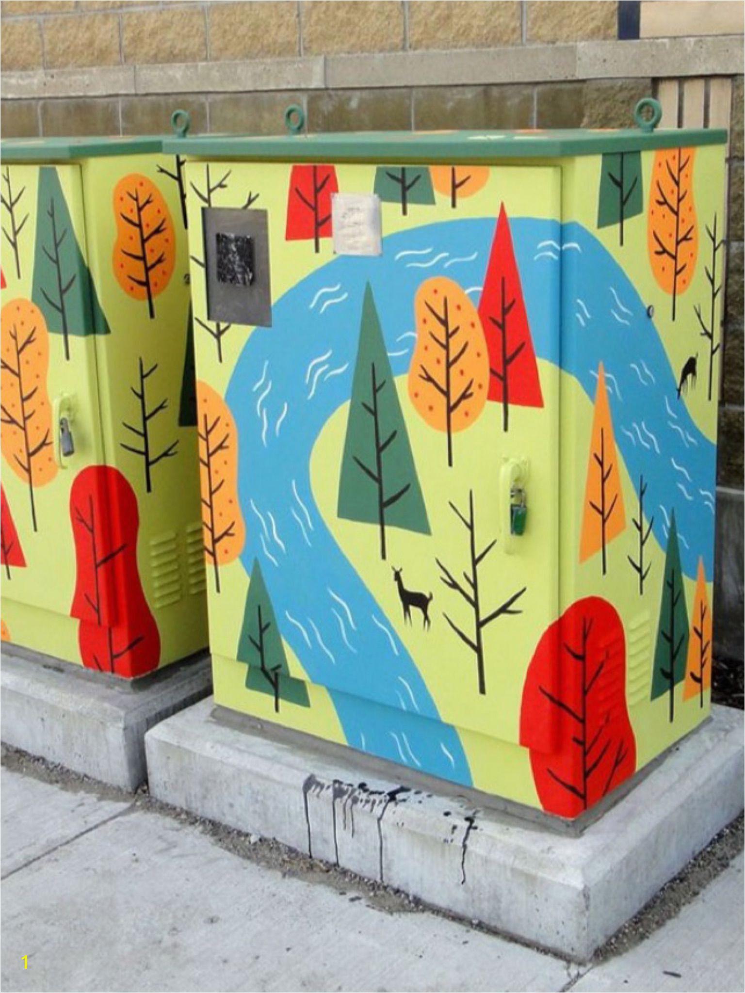 Urban Street Art Urban Art Electric Box Art Programs Painted Boxes