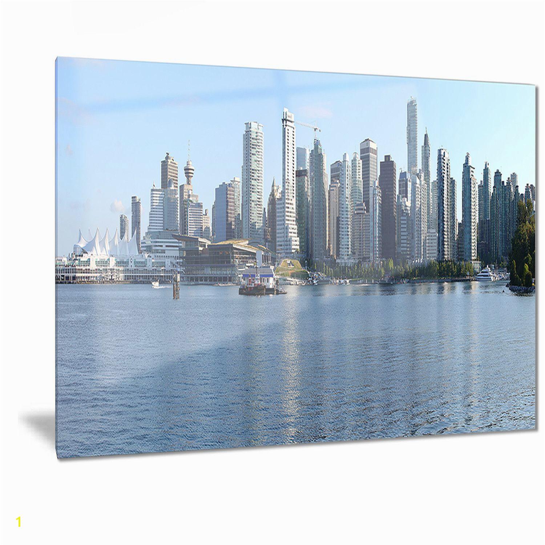 Designart Vancouver BC Skyline Panorama Cityscape