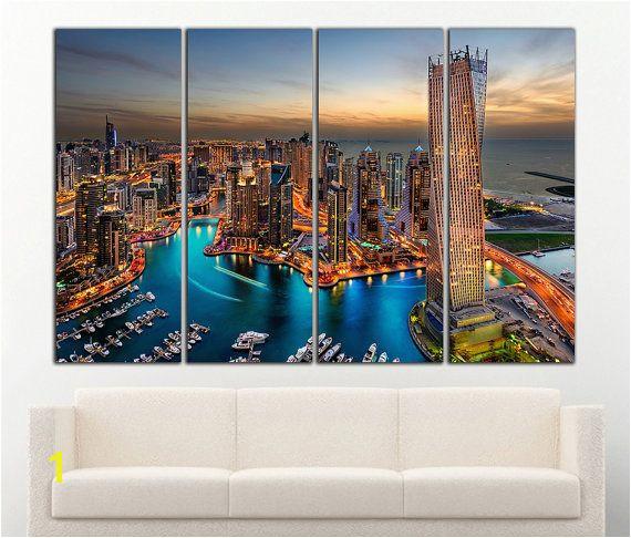 Dubai canvas Dubai wall art Dubai print Dubai wall decor Cityscape Skyscraper Urban Wall Art C Products