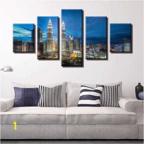 Kuala Lumpur Cityscape of Twin Tower Canvas Wall Art