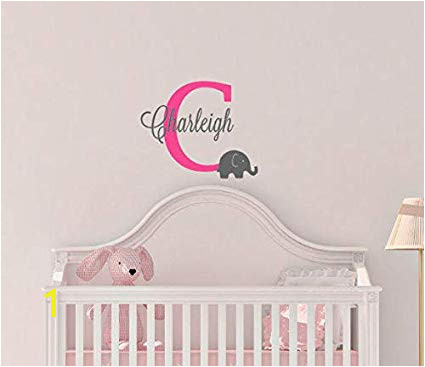 Wall Murals for Baby Girl Nursery Amazon Elephant Nursery Decor Elephant Nursery Decal Monogram