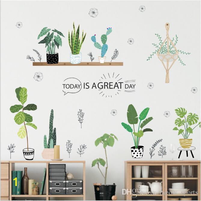 Wall Murals for Baby Girl Nursery Garden Plant Bonsai Flower butterfly Wall Stickers Home Decor Living
