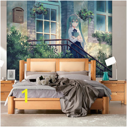 Anime Wall Murals UK Hatsune Miku Wallpaper Anime Girls Wall mural Custom 3D wallpaper