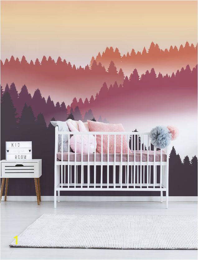 Wall Murals for Kids Bedrooms Abstract Air Balloon at Sunset Wall Mural In 2019