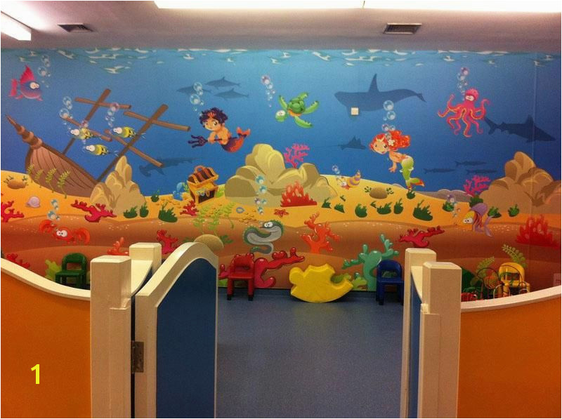 Kids Playroom Underwater Wall Mural Theme