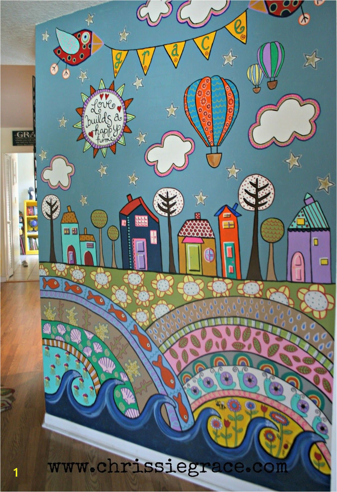 Wall Murals for Kids Playrooms More Fence Mural Ideas Back Yard
