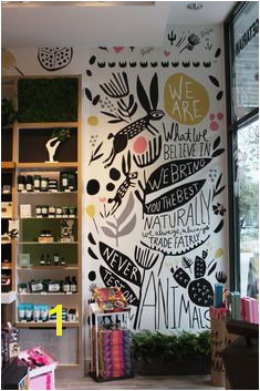Leah Duncan Wall Murals The Body Shop Arte Nas Paredes Wall Drawing Wall Design