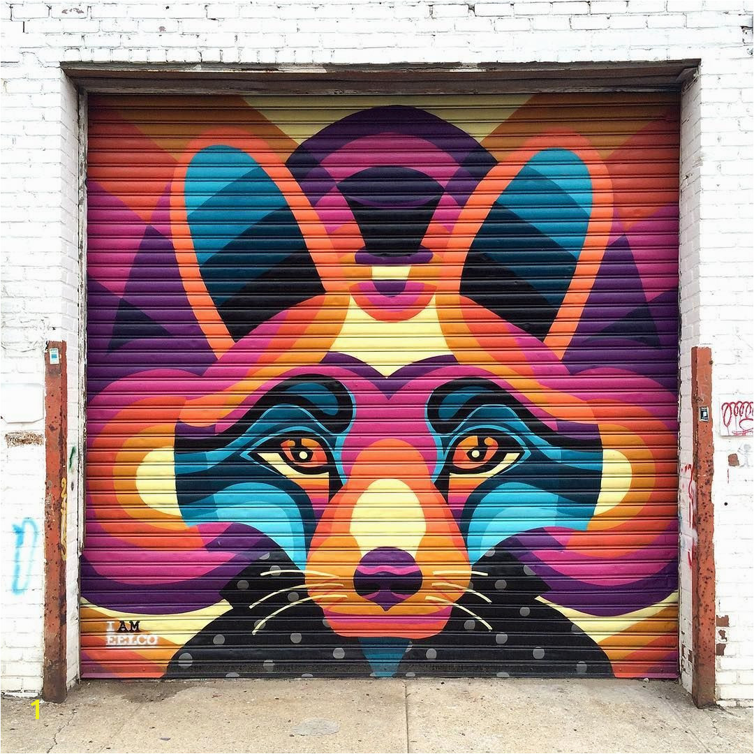 NYC street art Astoria Queens I am Eelco Welling Court Mural Project