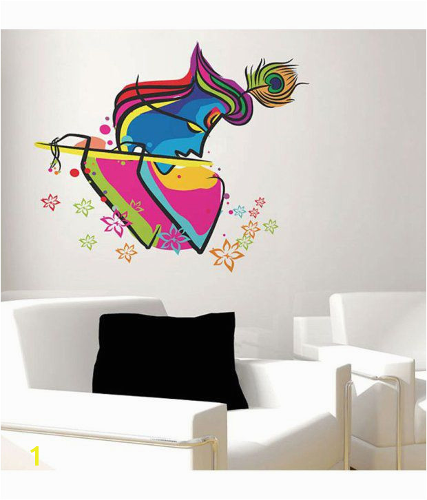 Art Krishna 6452 60x45 cms Buy StickersKart Wall Stickers Wall Decals Abstract Art Krishna 6452 60x45 cms line at Best Prices in India on