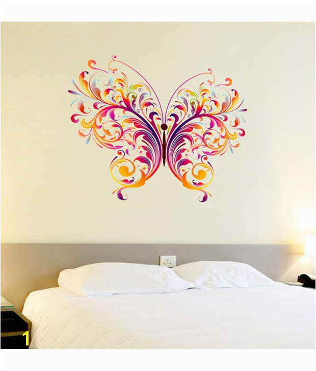 Wall Murals India Online Stickerskart Wall Stickers Wall Decals Colorful Single Big butterfly
