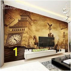 European Vintage Style Big Ben Pattern Waterproof Splicing 3D Wall Murals 3d Wall Murals Custom