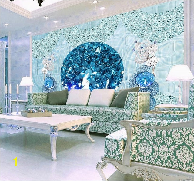 Europea Luxury 3D Stereoscopic mermaid Wallpaper Murals Custom 3D Wallpaper Living room wall papers home decor