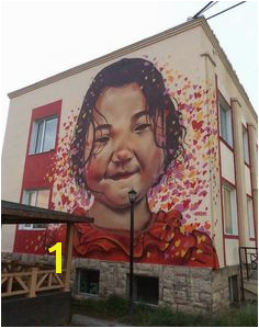 mural of local girl in Bayankhoshuu ger district Ulaanbaatar Mongolia by Heesco Khosnaran MongoliaMuralsMelbourneStreet ArtWall