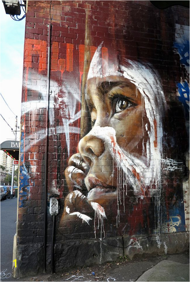 Street art by Adnate in Gertrude St Fitzroy Melbourne Australia Gertrude St has had a long connection to the Aboriginal munity