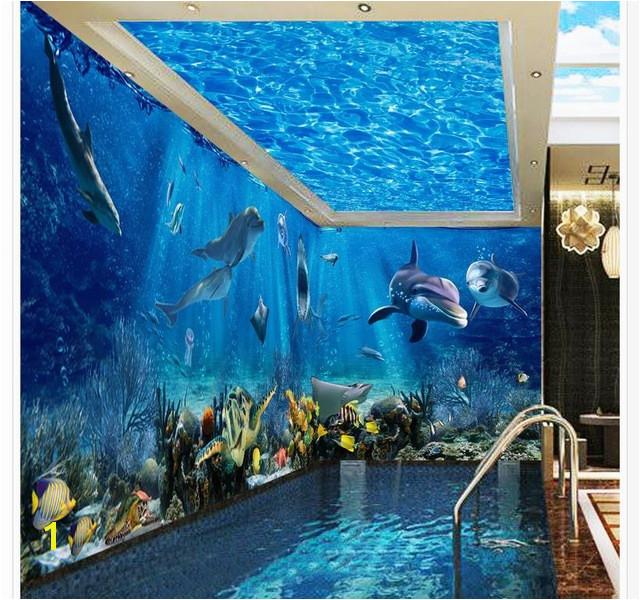 3d ceiling murals wallpaper Ocean World 3D stereoscopic theme space background wall mural 3d wallpaper wallpaper 3d ceiling