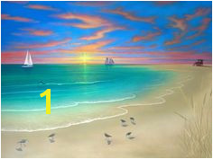 Pics For Paintings Nature Scenes For Kids Beach Art Beach Wall Murals