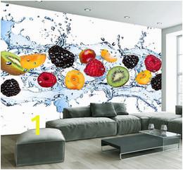 Custom Wall Painting Fresh Fruit Wallpaper Restaurant Living Room Kitchen Background Wall Mural Non woven Wallpaper Modern
