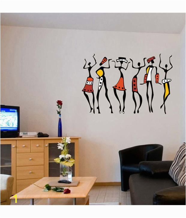 Women 5761 50x70 cms Buy StickersKart Wall Stickers Wall Decals African Dancing Women 5761 50x70 cms line at Best Prices in India on Snapdeal