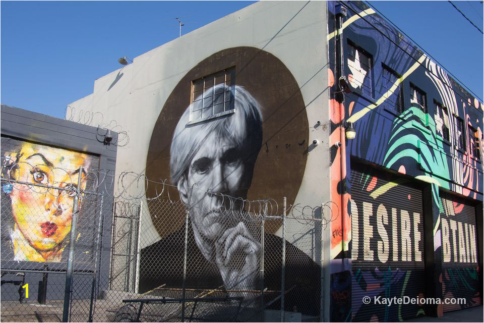 Murals in the Downtown Los Angeles Arts District