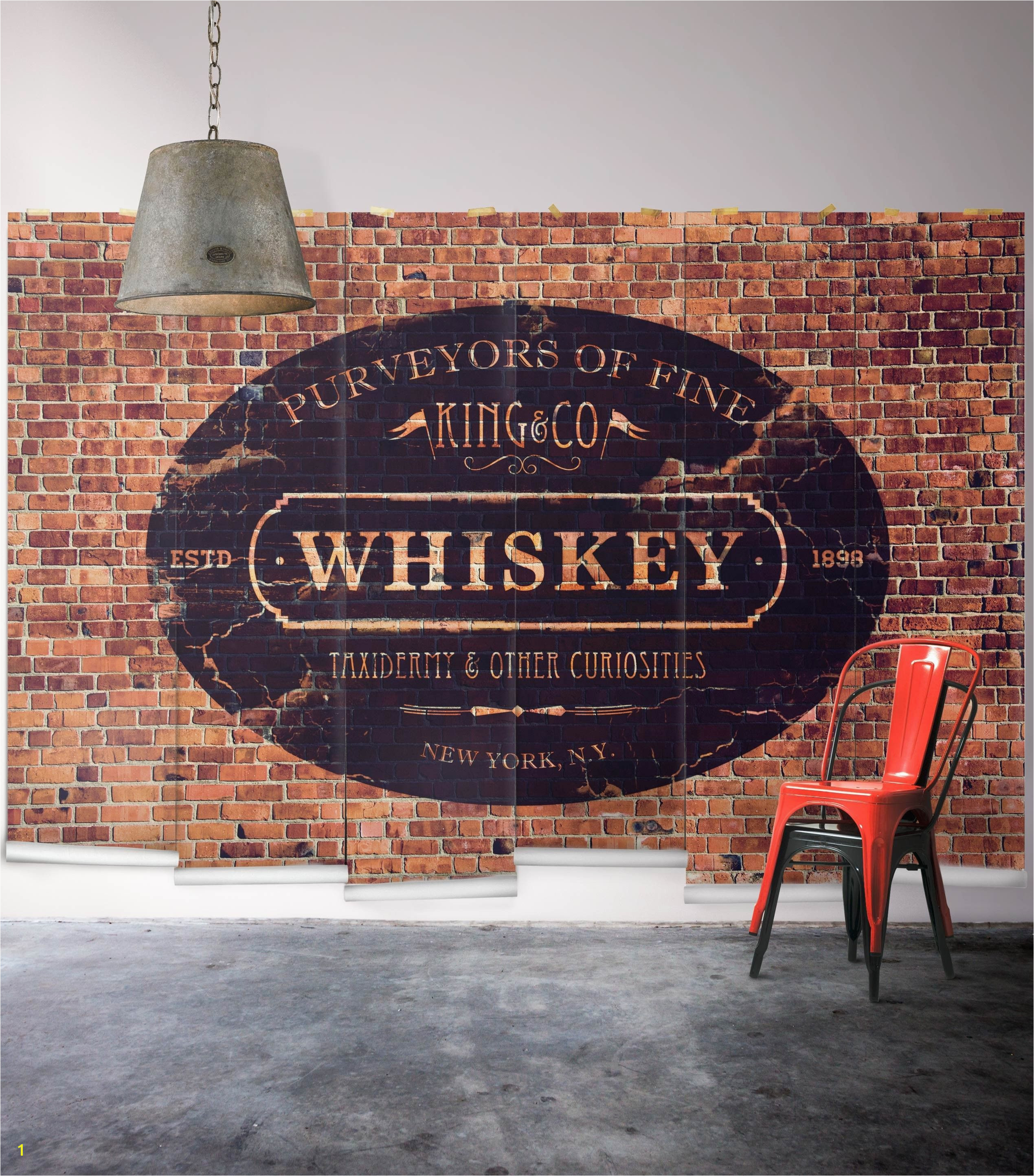 King & Co Whiskey Wall Mural From Wallpaper Republic size small $398