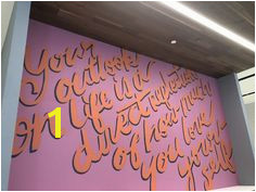 e of two murals designed for lululemon athletica store in Fashion Valley Mall San Diego CA