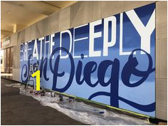 A mural designed for the lululemon athletica store in Fashion Valley Mall San Diego CA