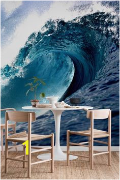 Wave wall mural from happywall wallpapers hawaii happywall surf mural