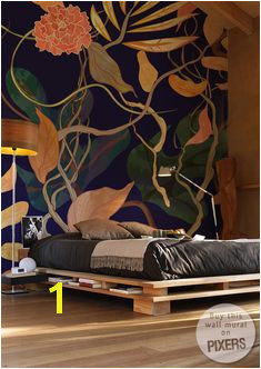 trendy seamless pattern with harbor theme watecolor plants Wall Mural • Pixers • We live to change