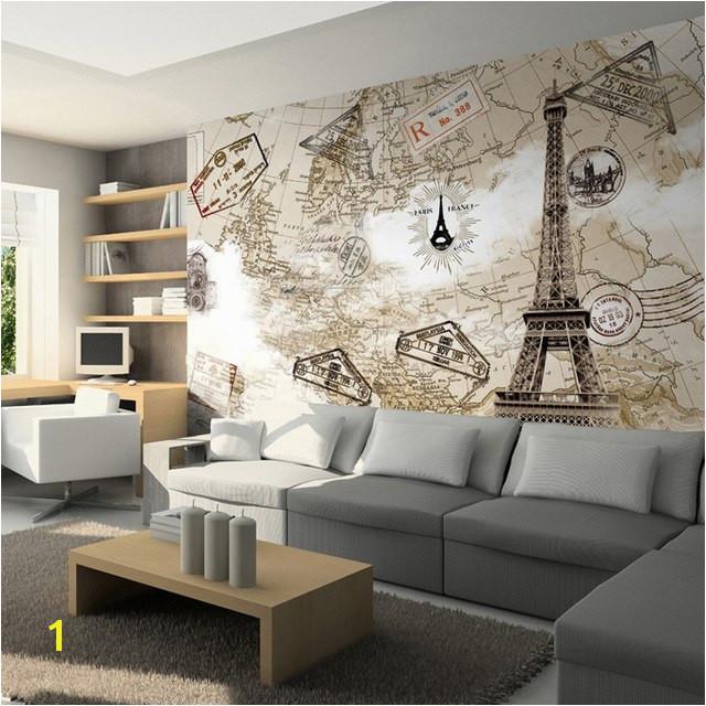 Tv hintergrund wand mural 3d tapete mode paris turm 3d wallpaper für wände tv hintergrund wohnzimmer