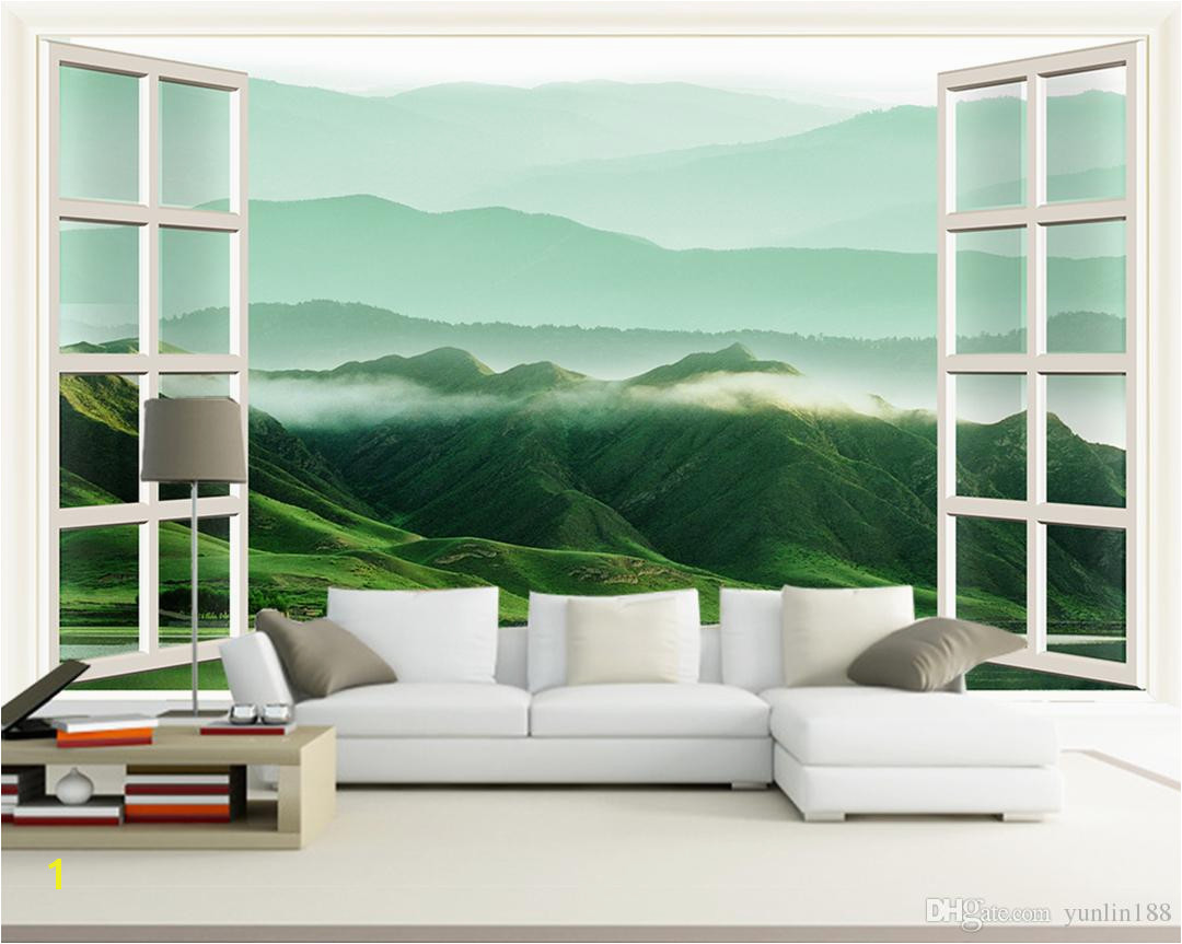 Customized Retail 3D Windows Landscapes Walls Rolling HilL Murals In The White Mansions Desktop Wallpaper Wide Desktop Wallpaper Widescreen From Yunlin188