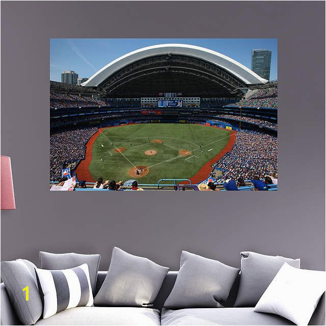Toronto Blue Jays fan Prove it Put your passion on display with a giant Inside Rogers Centre Mural Fathead wall decal