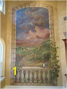 Mediterranean Home Italian Mural Design Remodel Decor and Ideas Tuscandesign Living