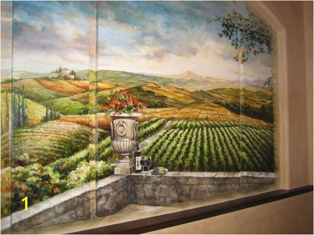tuscan landscape wall mural murals landscapes pinterest wallpaper muralsg Faux Painting Walls Faux Walls