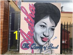 Artists pay a little respect to Aretha Franklin with murals around Aretha Franklin