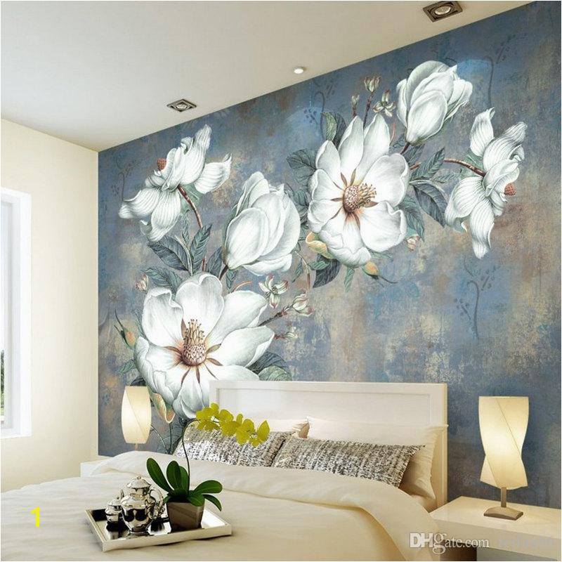 Custom Flowers Wallpaper 3D Retro Rose Murals For The Living Room Bedroom TV Background Wall Waterproof Papel De Parede Pc Desktop Wallpaper Pc Wallpaper