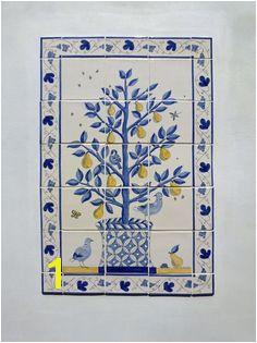 Doves & pear tree tiles Delft Tiles Tile Murals Reptiles Pear Wall
