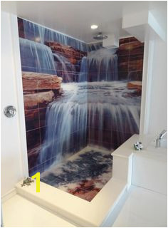 Custom Waterfall Tile Mural You ve seen it other places but we here