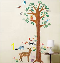 Wallies Wall Play Woodland growth chart Peel & Stick Tree and woodland animal Great for kids rooms and nursery