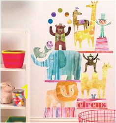 Adorable Circus Time Vinyl Decals from Wallies Peel and stick perfect