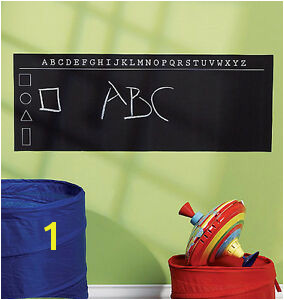 Image is loading ABC Alphabet Chalkboard Wall Mural Sticker Play Remove