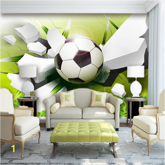 Wallpaper Murals for Sale Custom Wall Mural Wallpaper Modern 3d Stereoscopic Football Broken