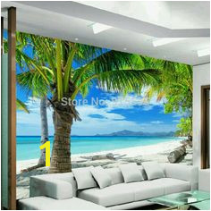 beibehang home Custom mural wallpape Sofa bedroom TV backdrop wall paper mural painting Beach Coconut Grove wall mural paper