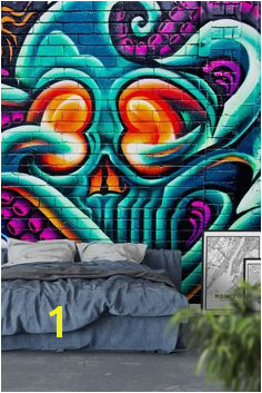 Octopus graffiti Wall Mural Wallpaper Graffiti Wall Street Art Graffiti Wall Murals